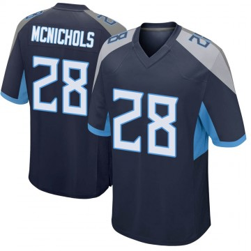 Youth Nike Tennessee Titans Jeremy McNichols Navy Jersey - Game