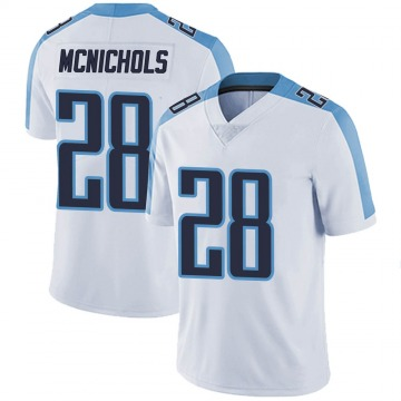 Youth Nike Tennessee Titans Jeremy McNichols White Vapor Untouchable Jersey - Limited