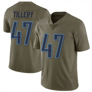 Youth Nike Tennessee Titans JoJo Tillery Green 2017 Salute to Service Jersey - Limited