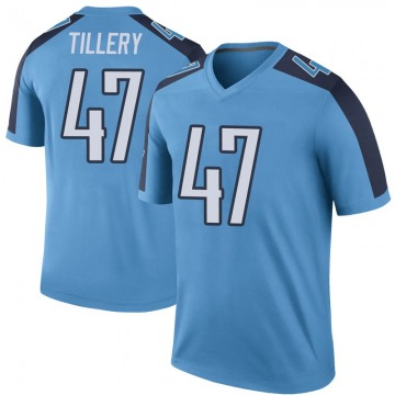Youth Nike Tennessee Titans JoJo Tillery Light Blue Color Rush Jersey - Legend