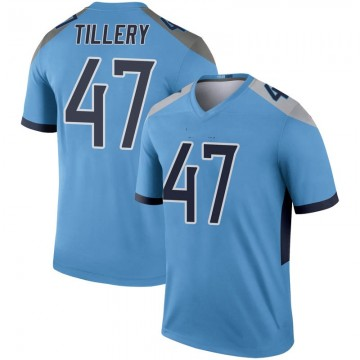 Youth Nike Tennessee Titans JoJo Tillery Light Blue Inverted Jersey - Legend