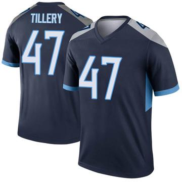 Youth Nike Tennessee Titans JoJo Tillery Navy Jersey - Legend