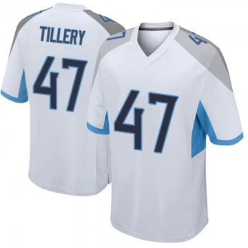 Youth Nike Tennessee Titans JoJo Tillery White Jersey - Game