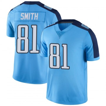 Youth Nike Tennessee Titans Jonnu Smith Light Blue Color Rush Jersey - Limited