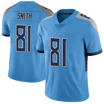 Youth Nike Tennessee Titans Jonnu Smith Light Blue Vapor Untouchable Jersey - Limited
