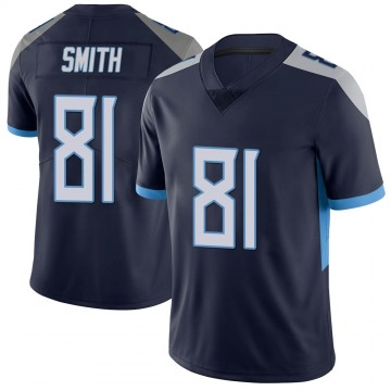 Youth Nike Tennessee Titans Jonnu Smith Navy Vapor Untouchable Jersey - Limited