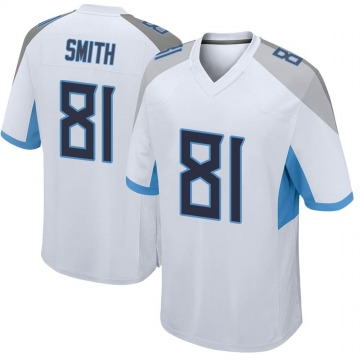Youth Nike Tennessee Titans Jonnu Smith White Jersey - Game