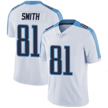 Youth Nike Tennessee Titans Jonnu Smith White Vapor Untouchable Jersey - Limited