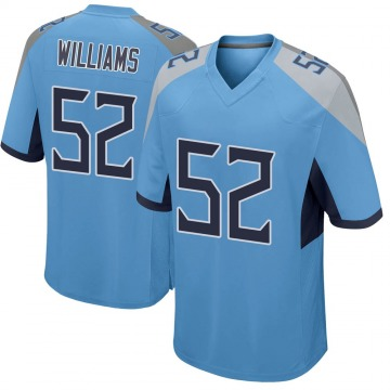 Youth Nike Tennessee Titans Jordan Williams Light Blue Jersey - Game