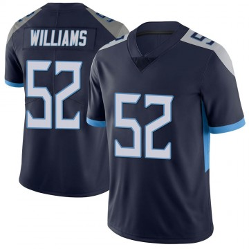 Youth Nike Tennessee Titans Jordan Williams Navy Vapor Untouchable Jersey - Limited