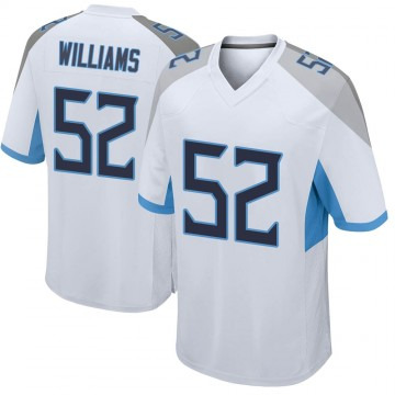 Youth Nike Tennessee Titans Jordan Williams White Jersey - Game