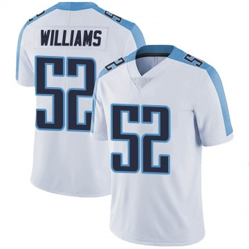 Youth Nike Tennessee Titans Jordan Williams White Vapor Untouchable Jersey - Limited