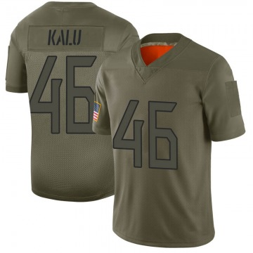 Youth Nike Tennessee Titans Joshua Kalu Camo 2019 Salute to Service Jersey - Limited