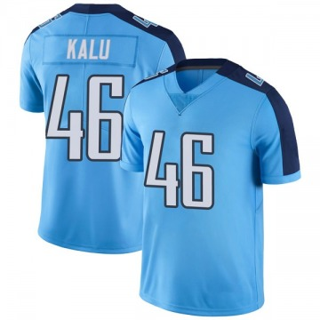 Youth Nike Tennessee Titans Joshua Kalu Light Blue Color Rush Jersey - Limited