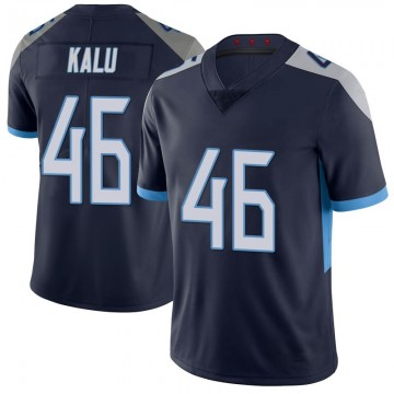 Youth Nike Tennessee Titans Joshua Kalu Navy 100th Vapor Untouchable Jersey - Limited