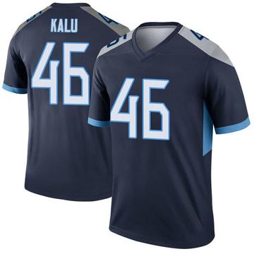 Youth Nike Tennessee Titans Joshua Kalu Navy Jersey - Legend