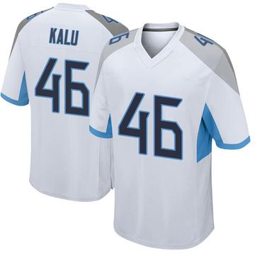 Youth Nike Tennessee Titans Joshua Kalu White Jersey - Game