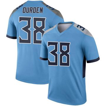 Youth Nike Tennessee Titans Kenneth Durden Light Blue Jersey - Legend