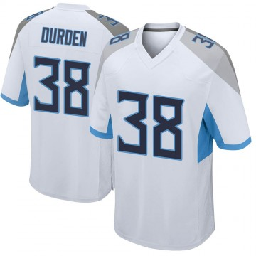 Youth Nike Tennessee Titans Kenneth Durden White Jersey - Game