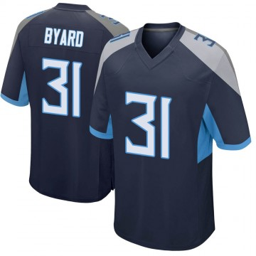 Youth Nike Tennessee Titans Kevin Byard Navy Jersey - Game