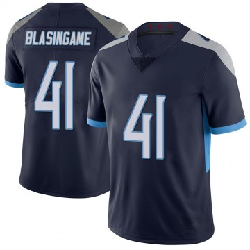 Youth Nike Tennessee Titans Khari Blasingame Navy 100th Vapor Untouchable Jersey - Limited