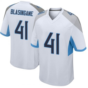 Youth Nike Tennessee Titans Khari Blasingame White Jersey - Game