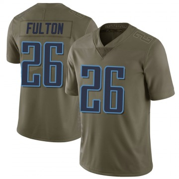 Youth Nike Tennessee Titans Kristian Fulton Green 2017 Salute to Service Jersey - Limited
