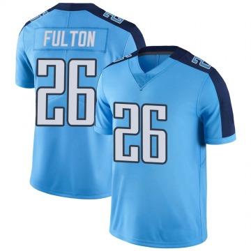 Youth Nike Tennessee Titans Kristian Fulton Light Blue Color Rush Jersey - Limited