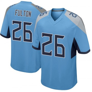 Youth Nike Tennessee Titans Kristian Fulton Light Blue Jersey - Game