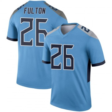 Youth Nike Tennessee Titans Kristian Fulton Light Blue Jersey - Legend
