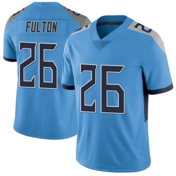 Youth Nike Tennessee Titans Kristian Fulton Light Blue Vapor Untouchable Jersey - Limited