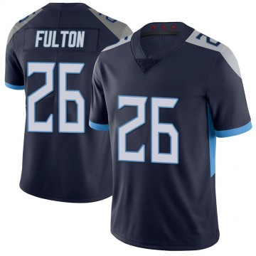 Youth Nike Tennessee Titans Kristian Fulton Navy 100th Vapor Untouchable Jersey - Limited