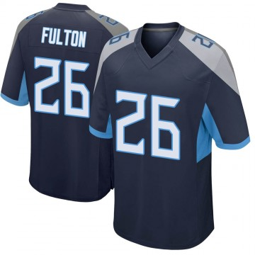 Youth Nike Tennessee Titans Kristian Fulton Navy Jersey - Game