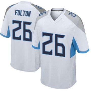 Youth Nike Tennessee Titans Kristian Fulton White Jersey - Game