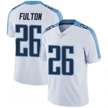 Youth Nike Tennessee Titans Kristian Fulton White Vapor Untouchable Jersey - Limited