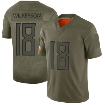 Youth Nike Tennessee Titans Kristian Wilkerson Camo 2019 Salute to Service Jersey - Limited