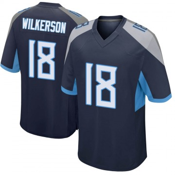 Youth Nike Tennessee Titans Kristian Wilkerson Navy Jersey - Game