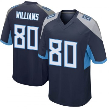 Youth Nike Tennessee Titans Kyle Williams Navy Jersey - Game