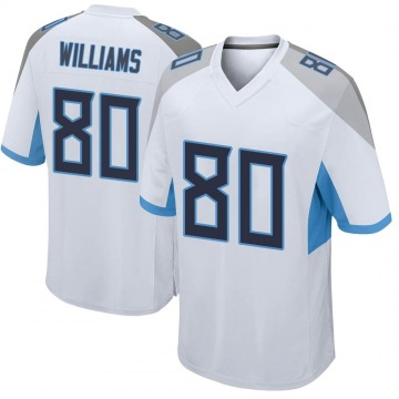 Youth Nike Tennessee Titans Kyle Williams White Jersey - Game