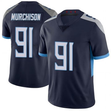 Youth Nike Tennessee Titans Larrell Murchison Navy 100th Vapor Untouchable Jersey - Limited
