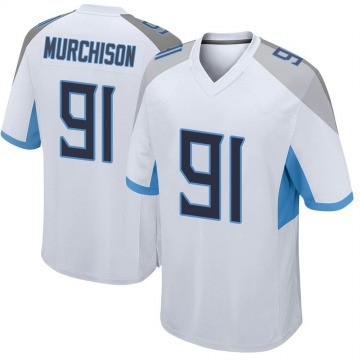 Youth Nike Tennessee Titans Larrell Murchison White Jersey - Game