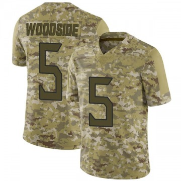 Youth Nike Tennessee Titans Logan Woodside Camo 2018 Salute to Service Jersey - Limited