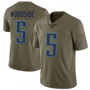 Youth Nike Tennessee Titans Logan Woodside Green 2017 Salute to Service Jersey - Limited