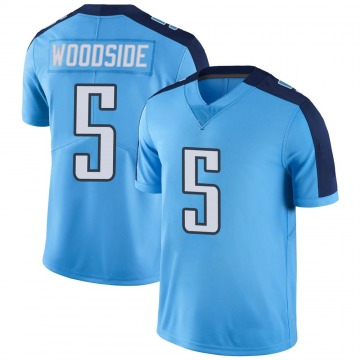 Youth Nike Tennessee Titans Logan Woodside Light Blue Color Rush Jersey - Limited
