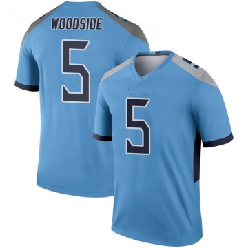 Youth Nike Tennessee Titans Logan Woodside Light Blue Inverted Jersey - Legend
