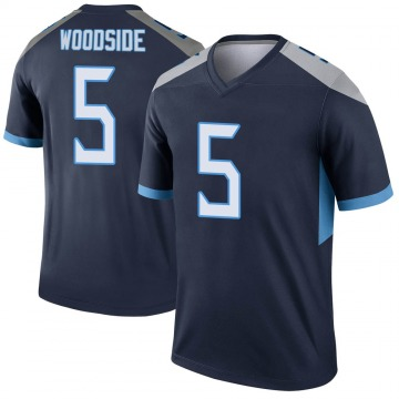 Youth Nike Tennessee Titans Logan Woodside Navy Jersey - Legend