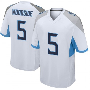Youth Nike Tennessee Titans Logan Woodside White Jersey - Game