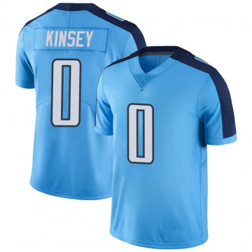 Youth Nike Tennessee Titans Mason Kinsey Light Blue Color Rush Jersey - Limited