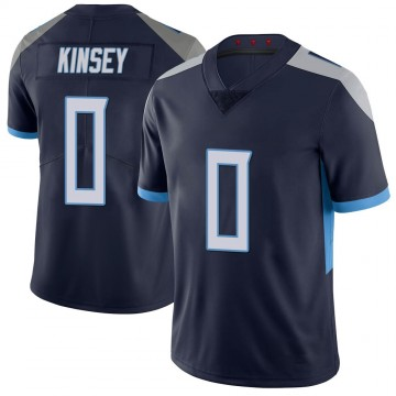 Youth Nike Tennessee Titans Mason Kinsey Navy 100th Vapor Untouchable Jersey - Limited