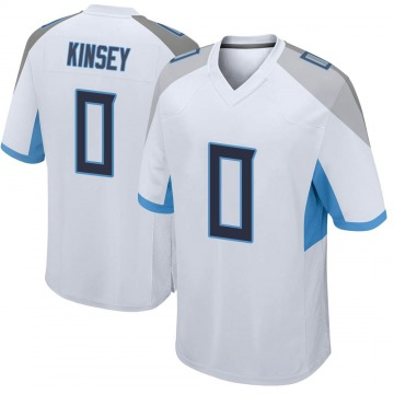Youth Nike Tennessee Titans Mason Kinsey White Jersey - Game
